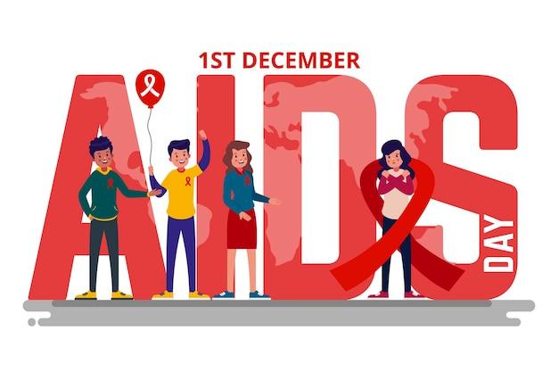 Illustrazione di evento della giornata mondiale contro l'aids