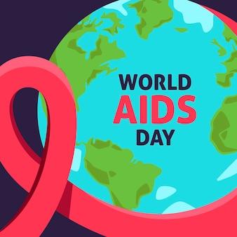 Giornata mondiale contro l'aids in design piatto