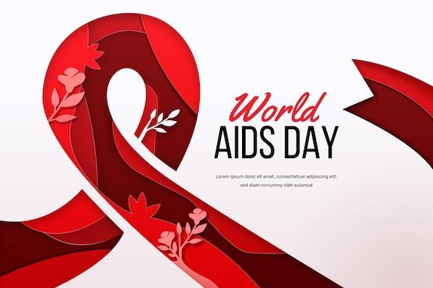 Giornata mondiale contro l'aids in stile cartaceo