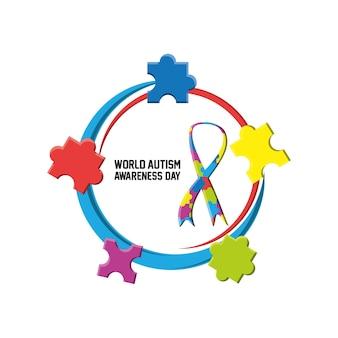 Progettazione di giornata mondiale per la consapevolezza dell'autismo