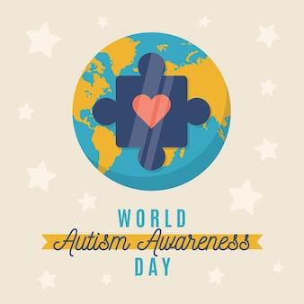 Illustrazione di giornata mondiale di consapevolezza dell'autismo