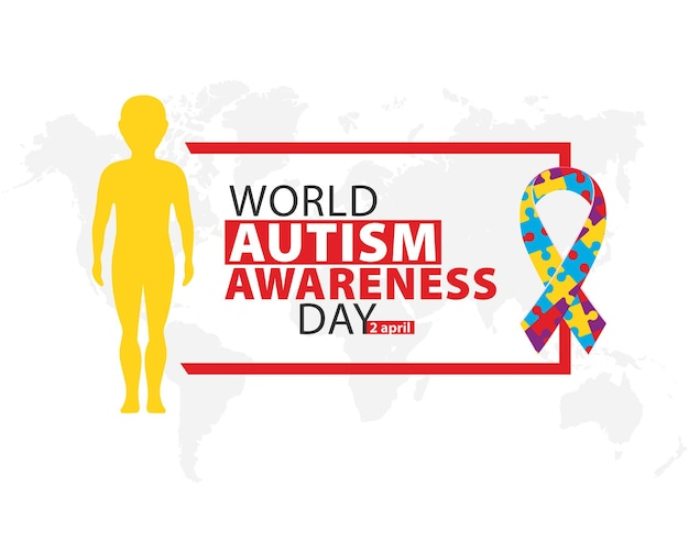 Giornata mondiale della sensibilizzazione sull'autismo Vettore Premium