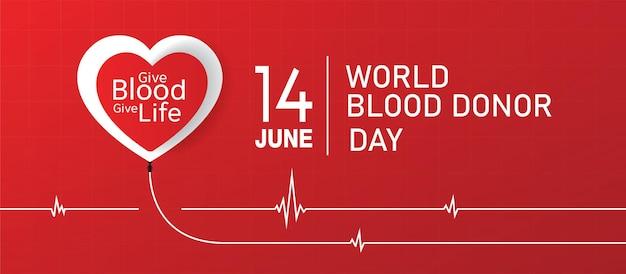 Disegno dell'illustrazione vettoriale della giornata mondiale del donatore di sangue