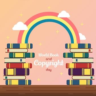 Illustrazione del giorno del libro e del copyright del mondo