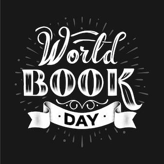 Lettering della giornata mondiale del libro