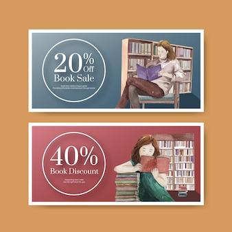 Modello di buono per la giornata mondiale del libro