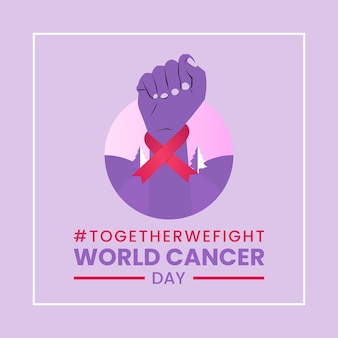 Banner di giornata mondiale del cancro Vettore Premium
