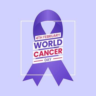 Banner di giornata mondiale del cancro