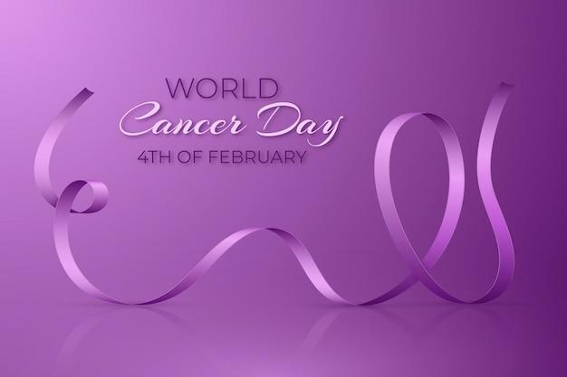 Sfondo realistico di giornata mondiale del cancro