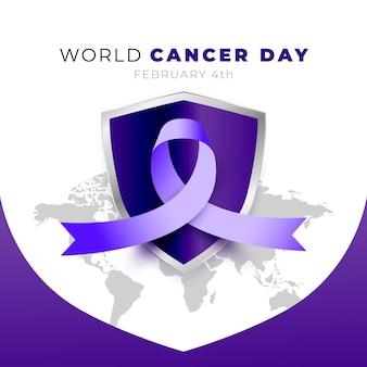 Giornata mondiale contro il cancro con il nastro