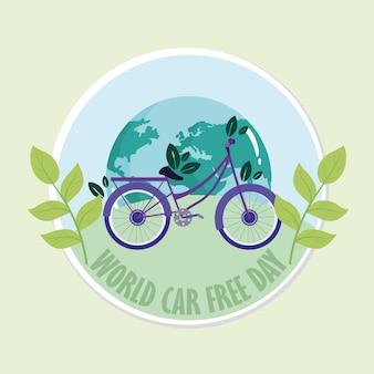 Banner per la giornata mondiale senza auto