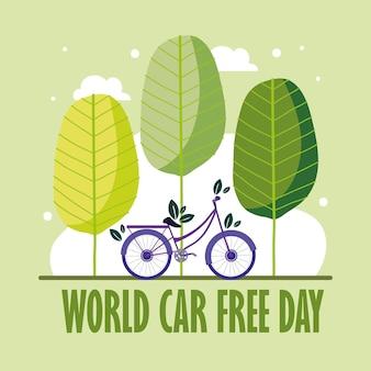Volantino per la giornata mondiale senza auto