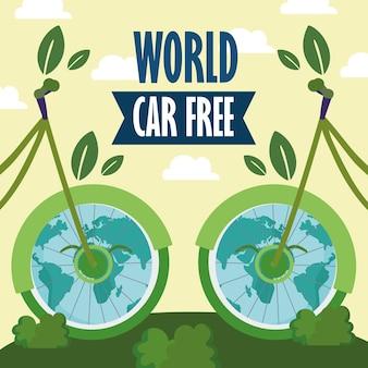 Bici ecologiche mondiali senza auto