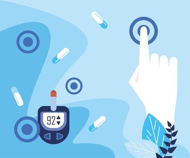Glucometro per la giornata mondiale del diabete