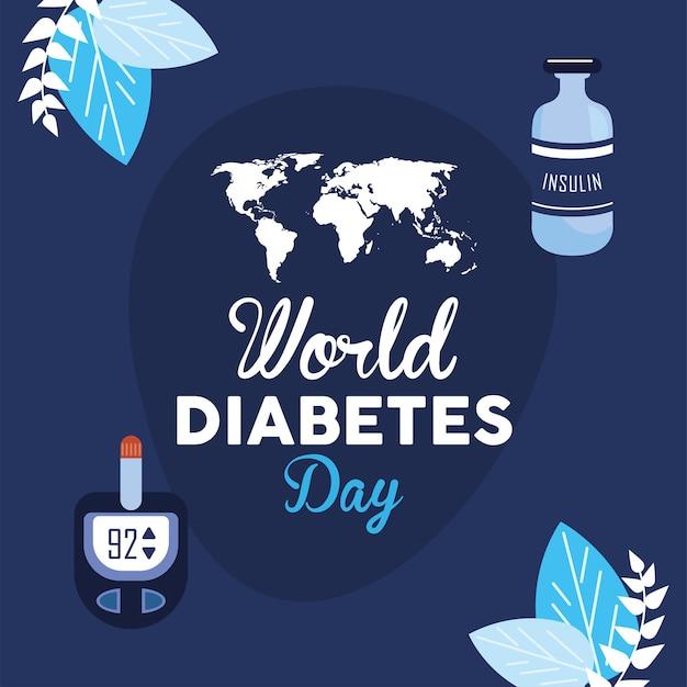 Iscrizione della giornata mondiale del diabete