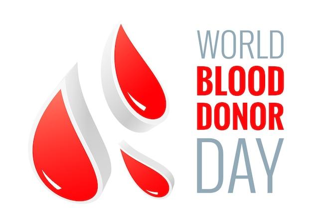 Giornata mondiale dei donatori - 14 giugno - poster in stile carta tagliata. donazione di sangue e concetto di assistenza medica con goccia rossa astratta. illustrazione vettoriale eps 10.
