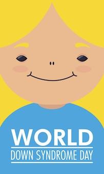 Giornata mondiale della sindrome di down con bambina bionda