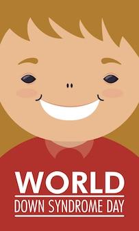 Giornata mondiale della sindrome di down con la bambina