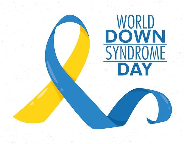 Giornata mondiale della sindrome di down con campagna del nastro