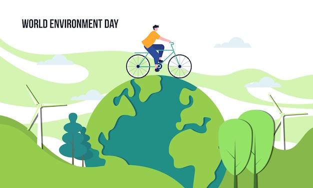 Giornata mondiale dell'ambiente nell'illustrazione della natura