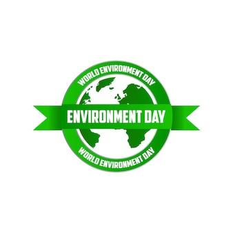 Illustrazione di vettore del segno della giornata mondiale dell'ambiente eps10