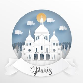 Famoso punto di riferimento mondiale di parigi, francia