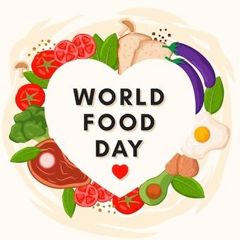 Sfondo design piatto giornata mondiale dell'alimentazione