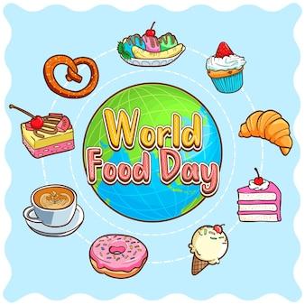 Illustrazione della giornata mondiale dell'alimentazione