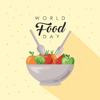 Iscrizione della giornata mondiale dell'alimentazione