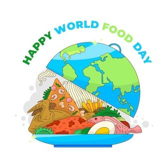 Sfondo vettoriale della giornata mondiale dell'alimentazione per poster, banner, biglietti di auguri, ecc