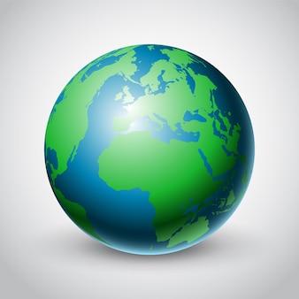 Disegno astratto del globo del mondo