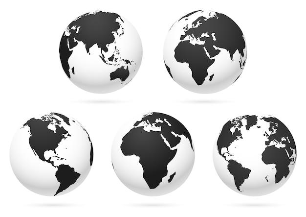 Mappa della terra del globo del mondo