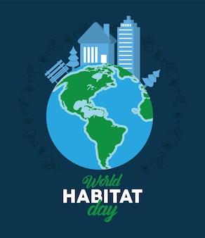 Biglietto per la giornata mondiale dell'habitat