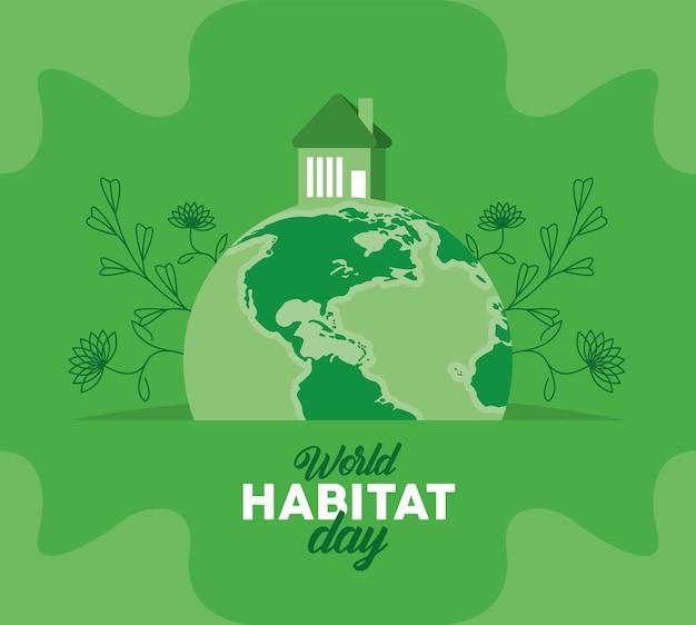 Iscrizione della giornata mondiale dell'habitat