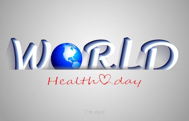 Giornata mondiale della salute, illustrazione di sfondo