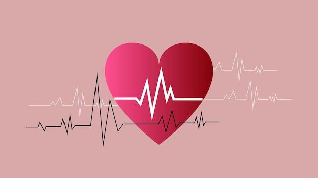 Giornata mondiale del cuore cuore con stetoscopio