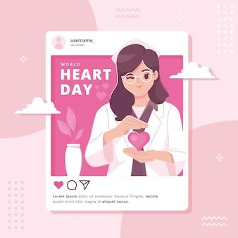 Sfondo illustrazione giornata mondiale del cuore