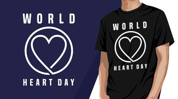 Giornata mondiale del cuore - design t-shirt