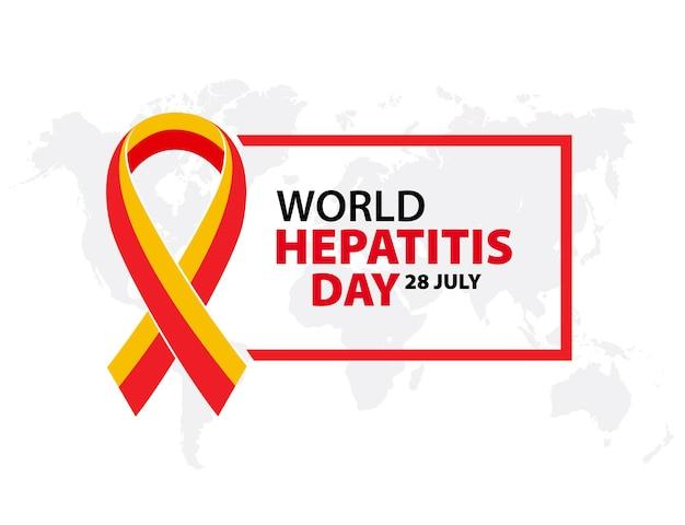 Poster o banner di illustrazione vettoriale per la giornata mondiale dell'epatite