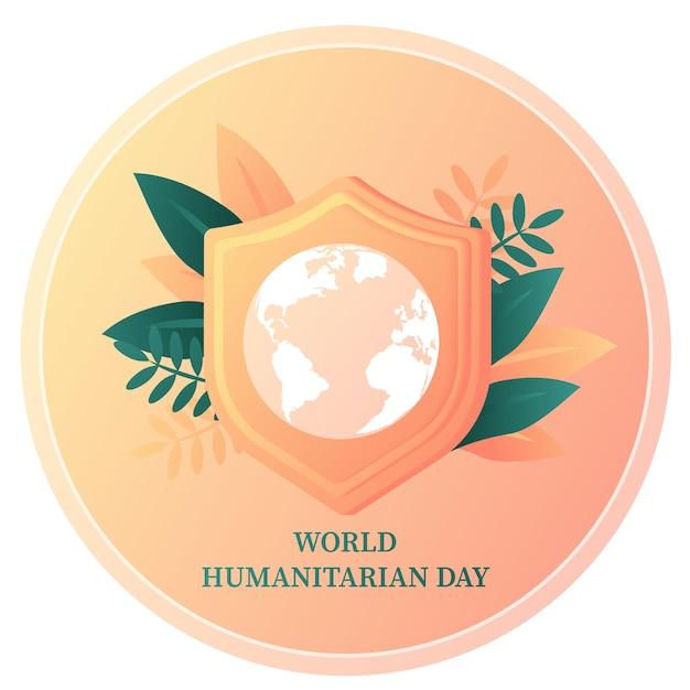 Giornata mondiale dell'aiuto umanitario celebrata ogni anno il 19 agosto in tutto il mondo modello di banner assistenza per la cura