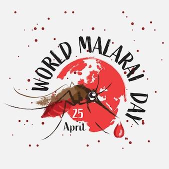 Design della giornata mondiale contro la malaria
