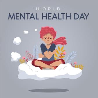 Giornata mondiale della salute mentale disegnati a mano