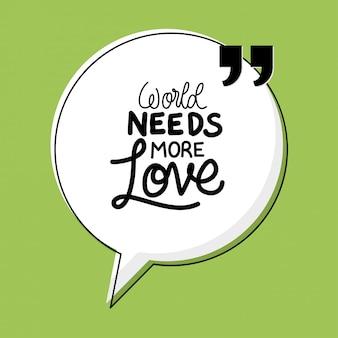 Il mondo ha bisogno di più citazioni d'amore