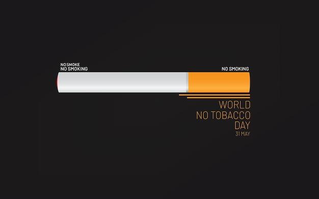 Illustrazione di vettore di progettazione dell'insegna della giornata mondiale senza tabacco