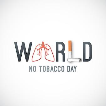 Giornata mondiale senza tabacco.