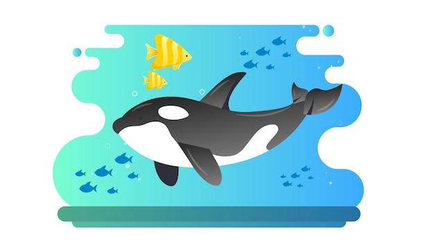Fondo dell'illustrazione di giornata mondiale dell'oceano