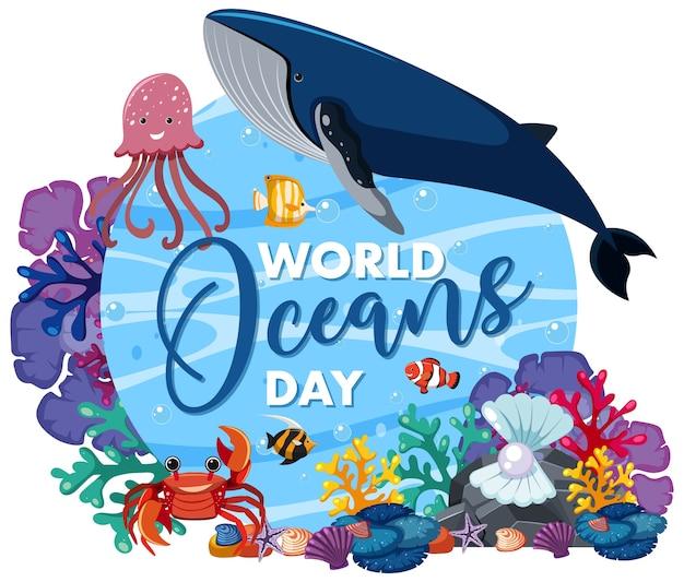 Icona di giornata mondiale degli oceani