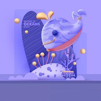 Giornata mondiale degli oceani illustrazione