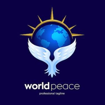 Design del logo della pace nel mondo