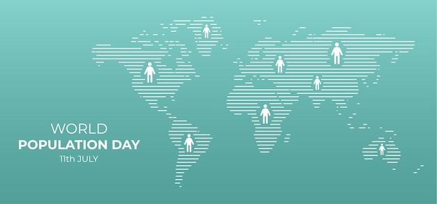 Sfondo della giornata mondiale della popolazione